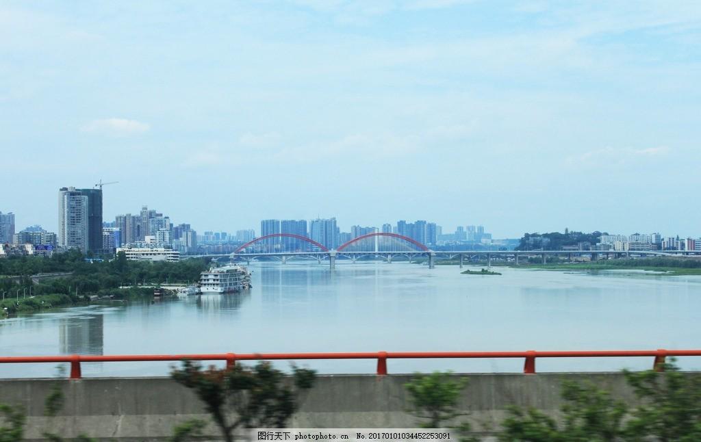 森林城市 绿色 远景 建筑 水天一色 合川大景 摄影 自然景观 山水风景