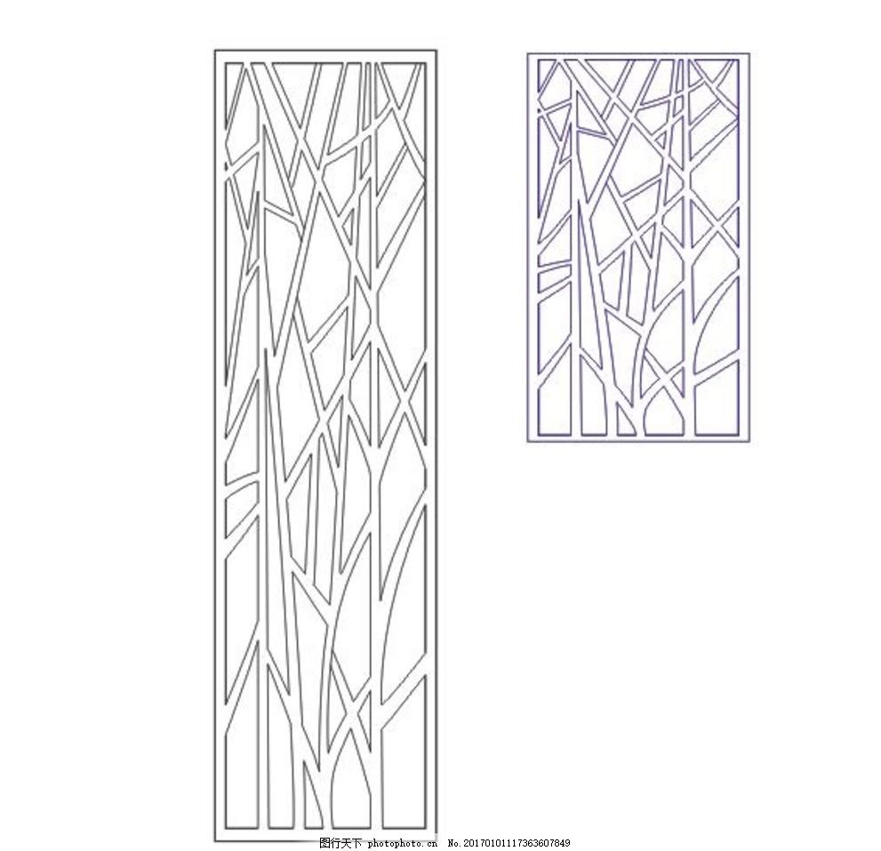 镂空木雕图案 屏风 隔断 线条图 矢量图 设计 广告设计 移门图案 cdr