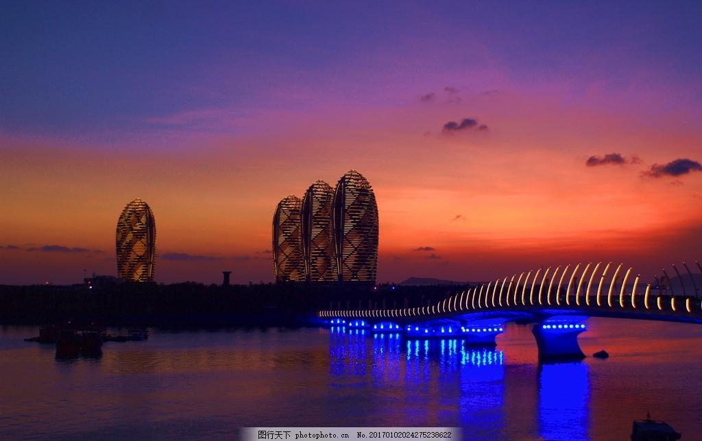 凤凰岛 海南 三亚 夜景 海边建筑 标志建筑 摄影 建筑景观