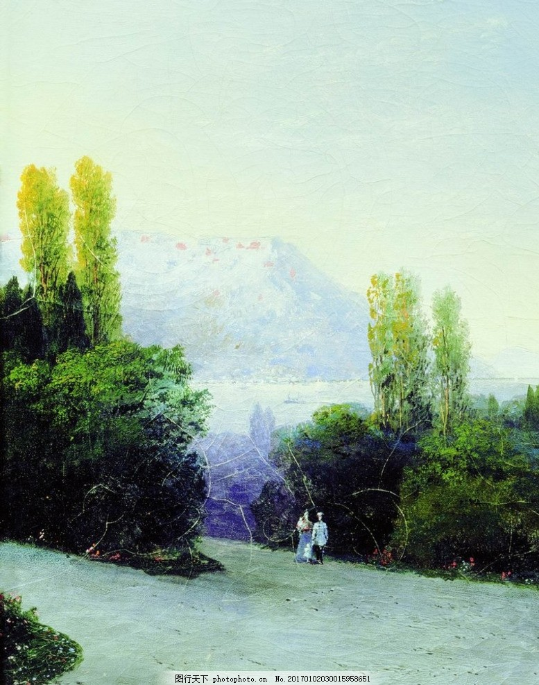 欧式海景油画 风景油画 手绘