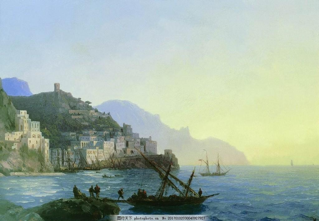 欧式海景油画 海景油画 风景