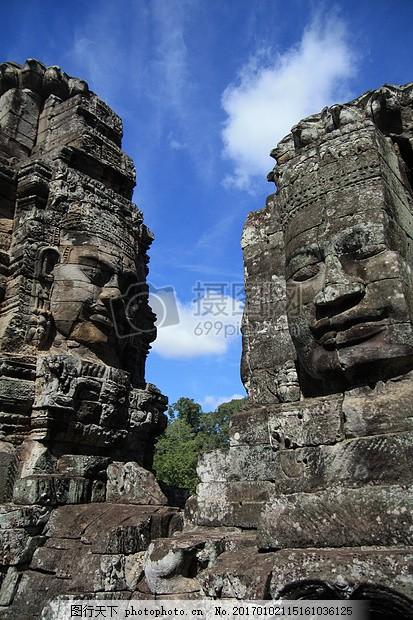 柬埔寨 吴哥窟 废墟 寺 节日 天空 森林 旅行 探索 黑色