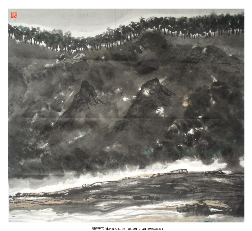 水墨自然风景 水墨自然风景图片素材 水墨画 名画 水墨花卉植物
