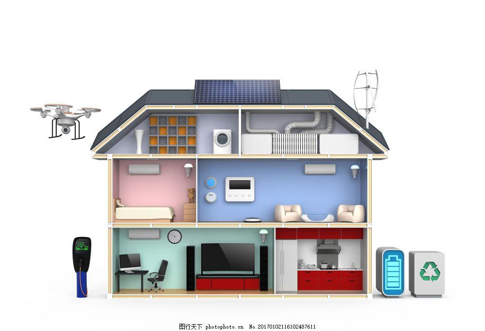 卡通别墅效果图图片