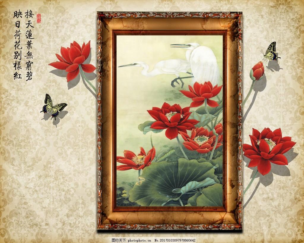 花卉画框装饰画 背景 壁纸 风景 高分辨率图片 高清大图 建筑