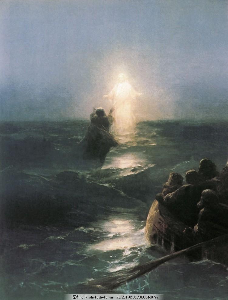 欧式海景油画 风景油画 手绘 西方古典油画 油画艺术作品 油画作品