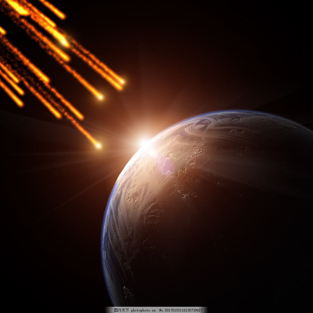 流星雨 流星雨图片素材 太空 宇宙 陨石 宇宙太空 环境家居