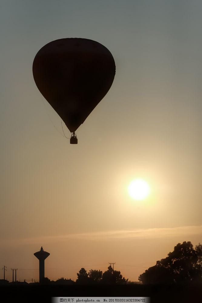 热气球剪影图片素材 热气球 风景剪影 美丽风景 风景摄影 山水风景