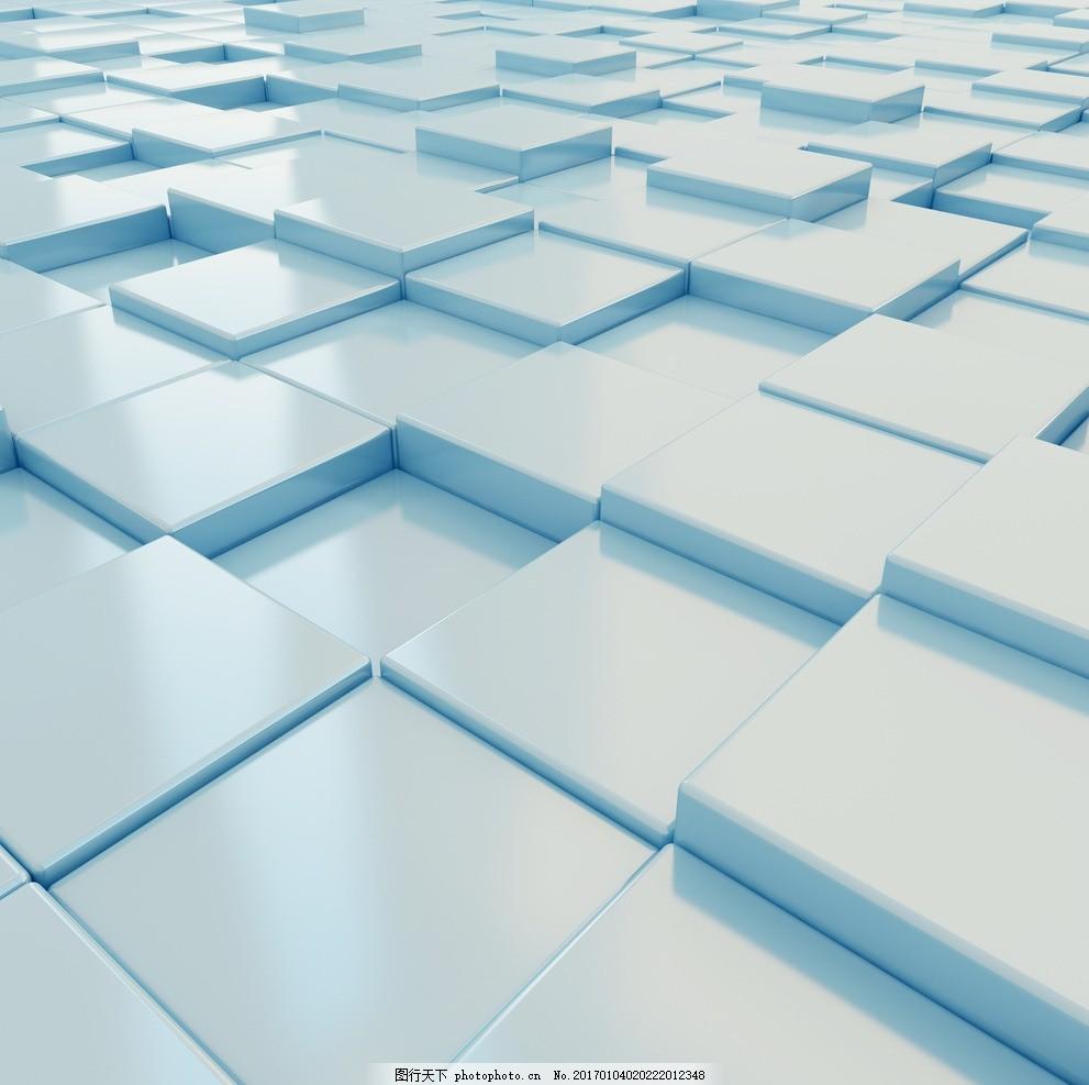 立体方块质感背景高清