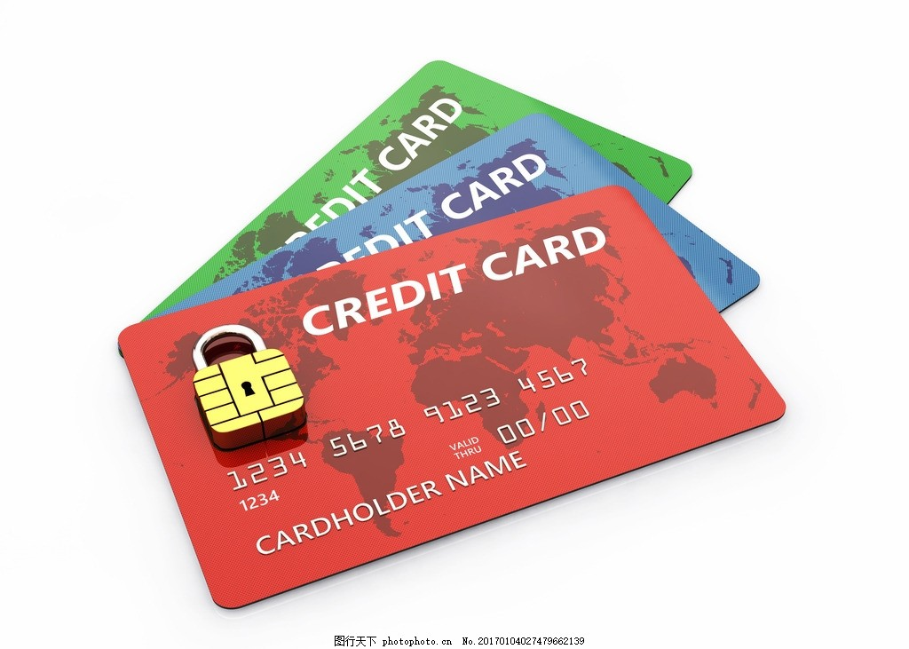 银行卡 信用卡 网络 科技 密码 保护 密码锁 金属锁 防御保护 创意