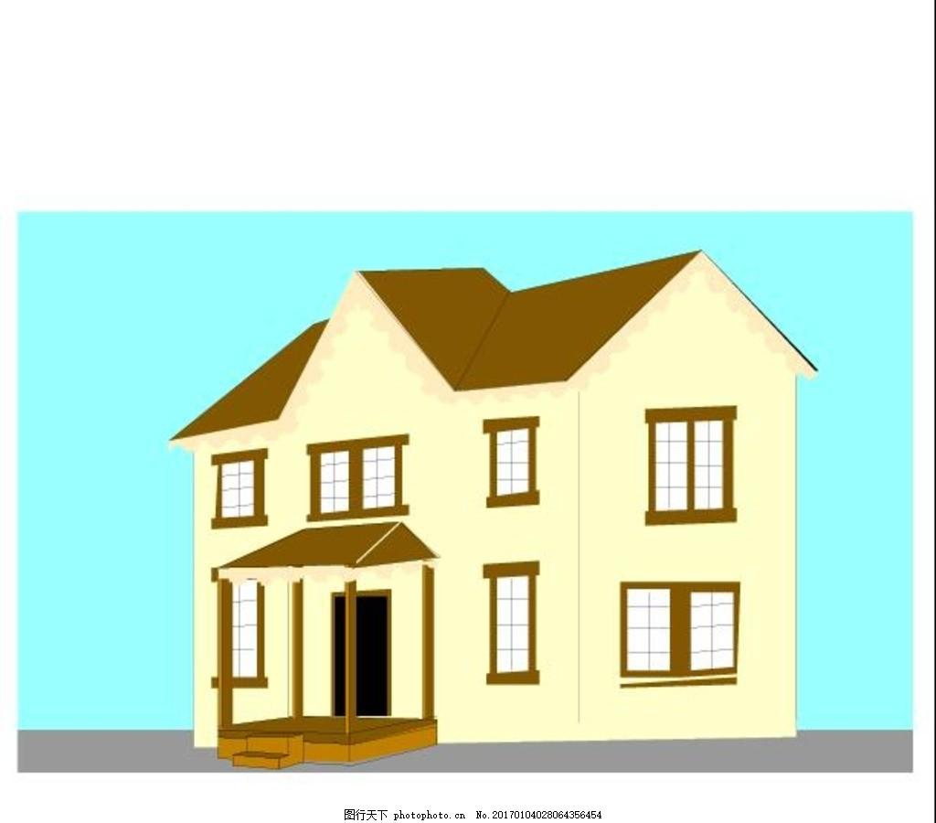 手绘房子 城堡 漫画 矢量 乡村矢量 房子矢量图 楼房 建筑 房屋