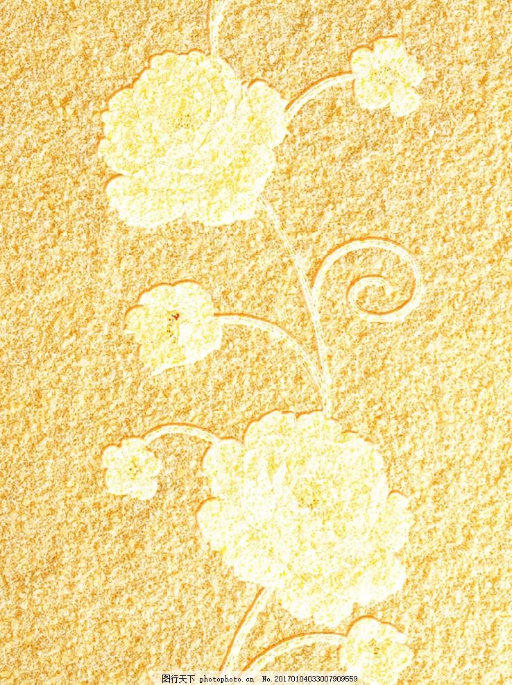 欧式花朵肌理玄关背景墙