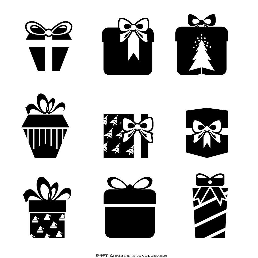 礼物盒icon图标 线性 扁平 手绘 单色 多色 简约 精美 可爱 图标 icon