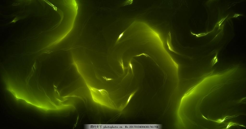 渐变蒙眬质感背景高清,橙色 绿色 火焰 创意 流动-图