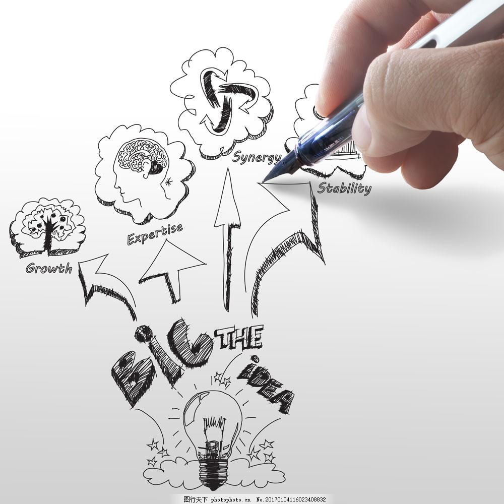 手绘商务插画图片