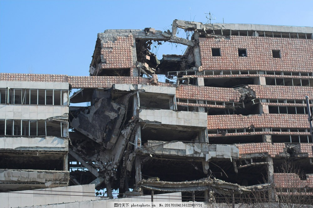 倒塌的房子建筑图片