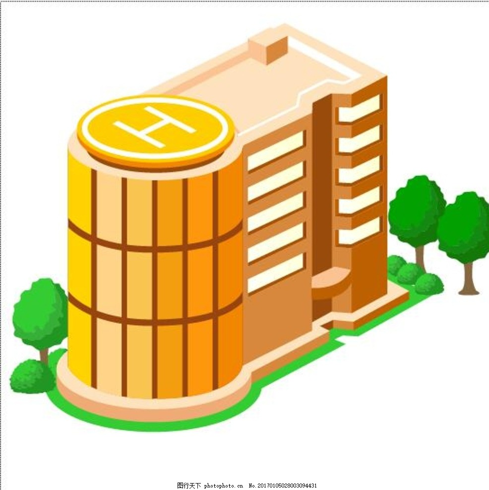 立体房子图标 自由大厦 房子图标 矢量小房子 房屋 图标 立体画 城市