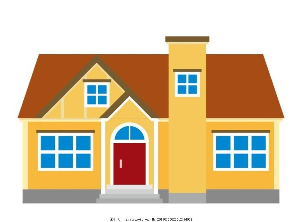 平面房子矢量图 平面设计 镇 城市景观 色彩缤纷 创意 楼群 银行