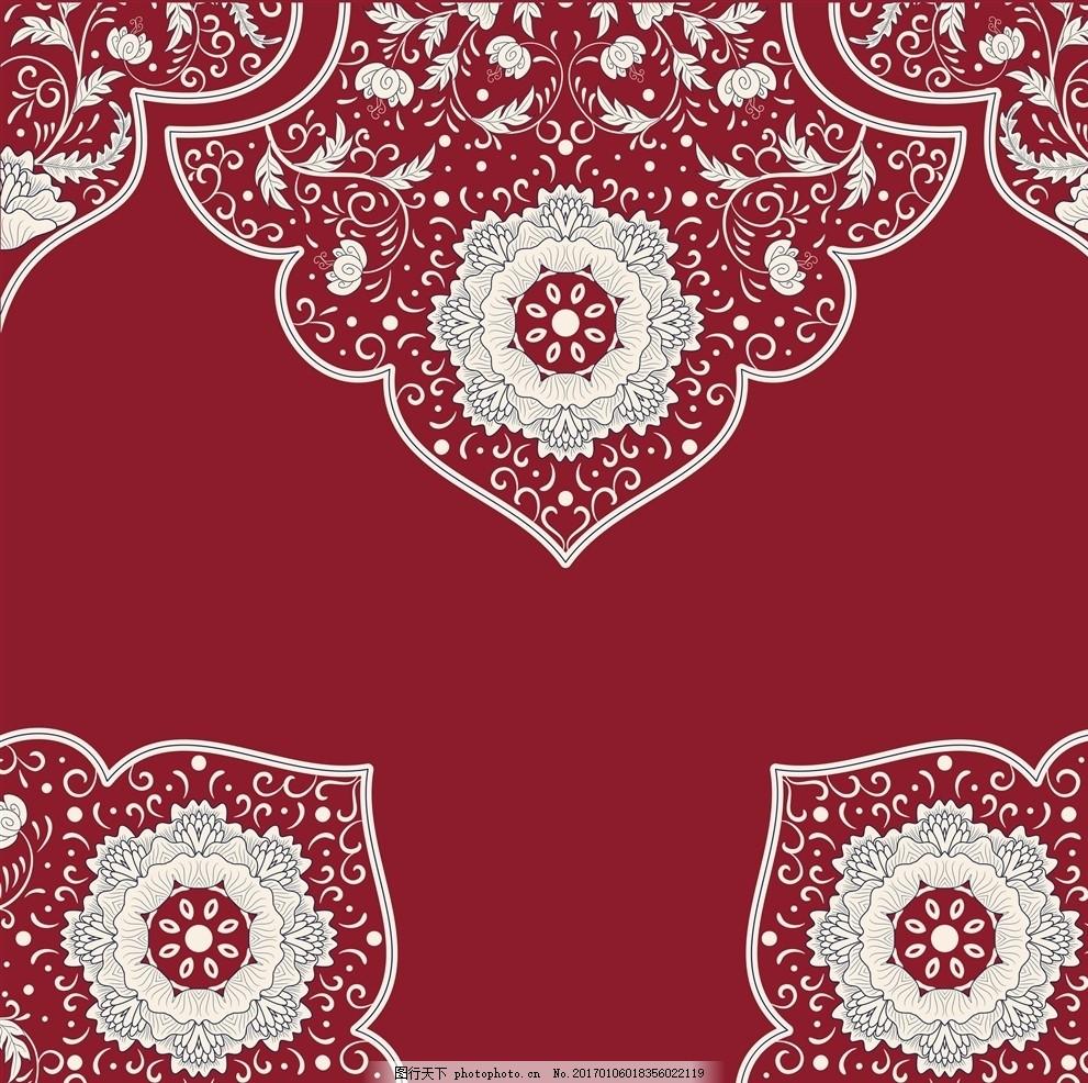 中式花纹 绣花 家纺 婚庆 民族图案 设计素材 文化艺术 绘画书法