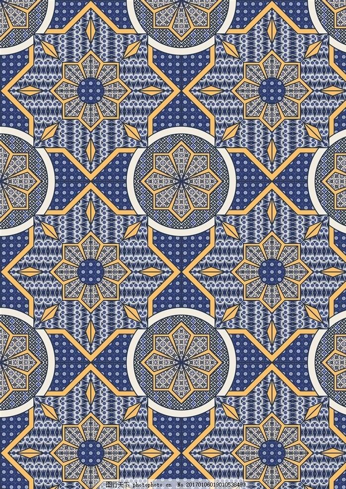 几何图案 地砖花纹 民族图案 服装花型 波西米亚风 矢量花型