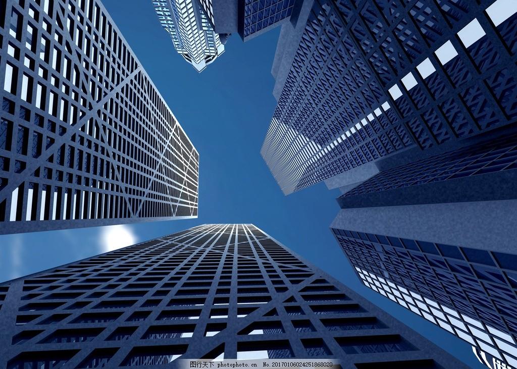 现代建筑 高层建筑 摩天大厦 摩天大楼 仰望高楼 仰望天空 城市高楼