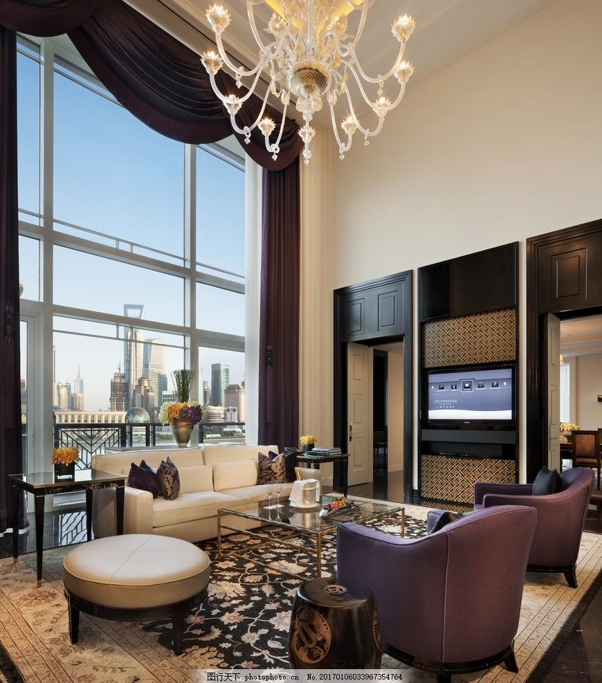上海半岛酒店 大华套间 豪华套房 休闲客厅 豪华餐厅 豪华大床