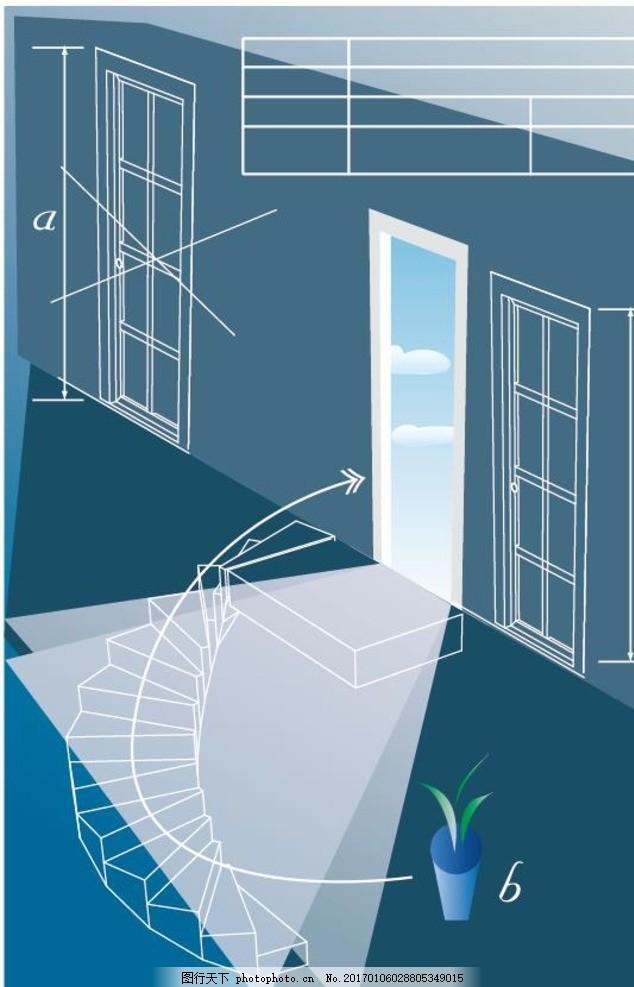 手绘装修 装修海报 手绘建筑 素描 线描 绘画书法 建筑园林 手绘风景