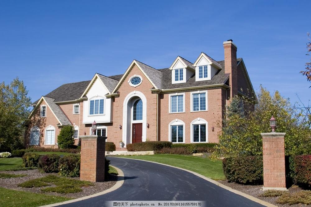 别墅风格面貌摄影 别墅风格面貌摄影图片素材 高端建筑 房屋 室外