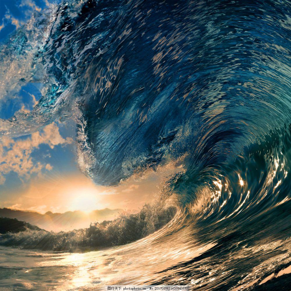 美丽巨浪风景 美丽巨浪风景图片素材 海洋 海浪 浪花 海水 大海风景