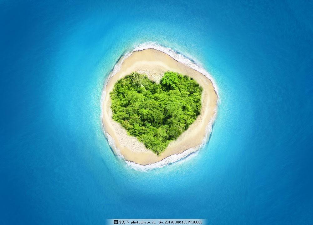 心形岛屿风景图片,心形岛屿风景图片素材 海岛风景