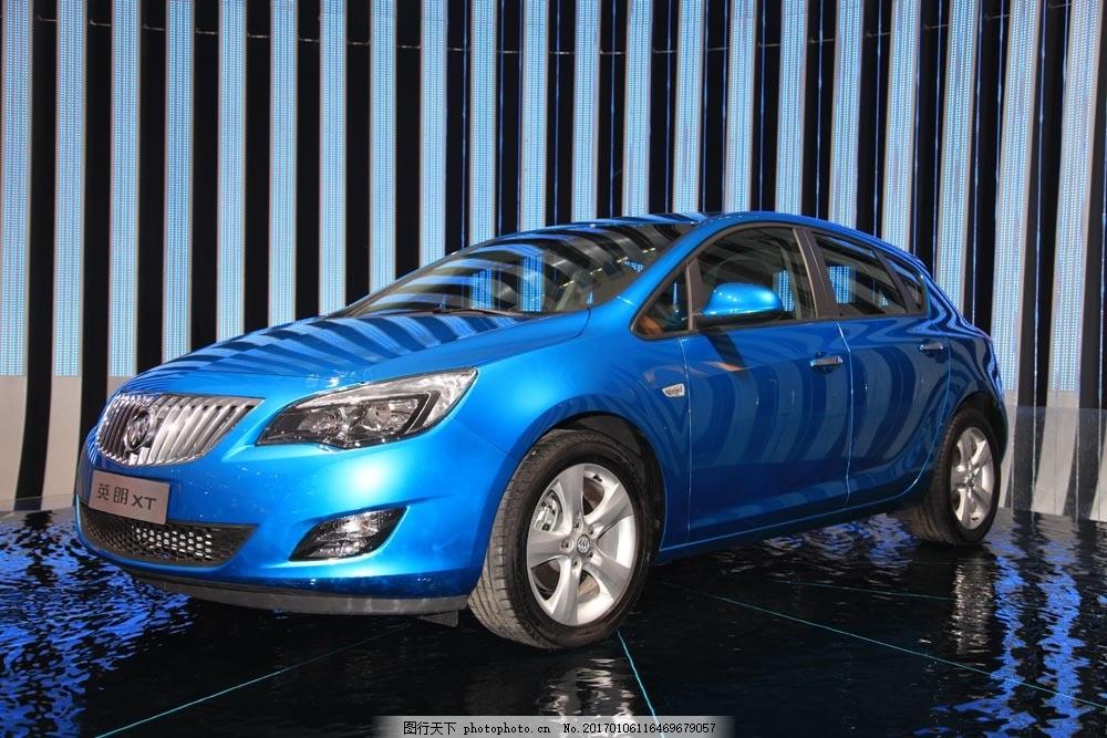蓝色别克轿车图片素材 轿车 汽车 工业生产 小车 交通工具 品牌轿车