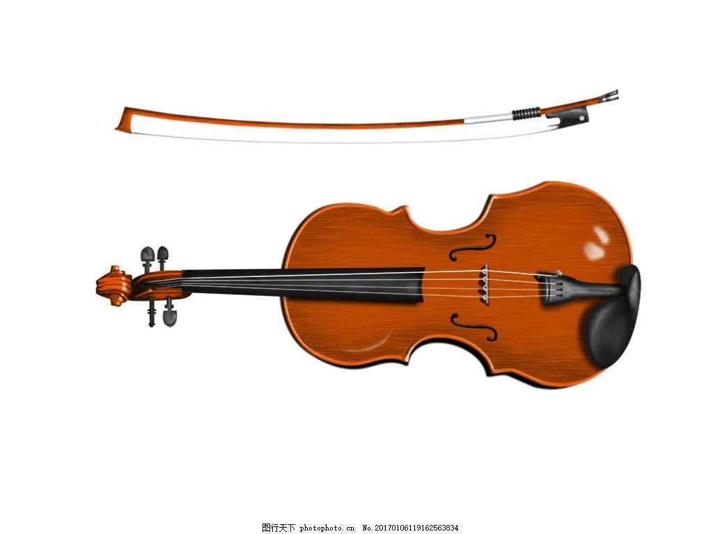 小提琴素材 静物乐器 装饰元素