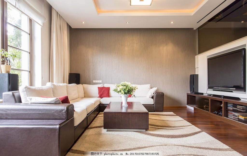 简洁 简约 浪漫      沙发 白色系 白墙 地毯 设计 环境设计 室内设计