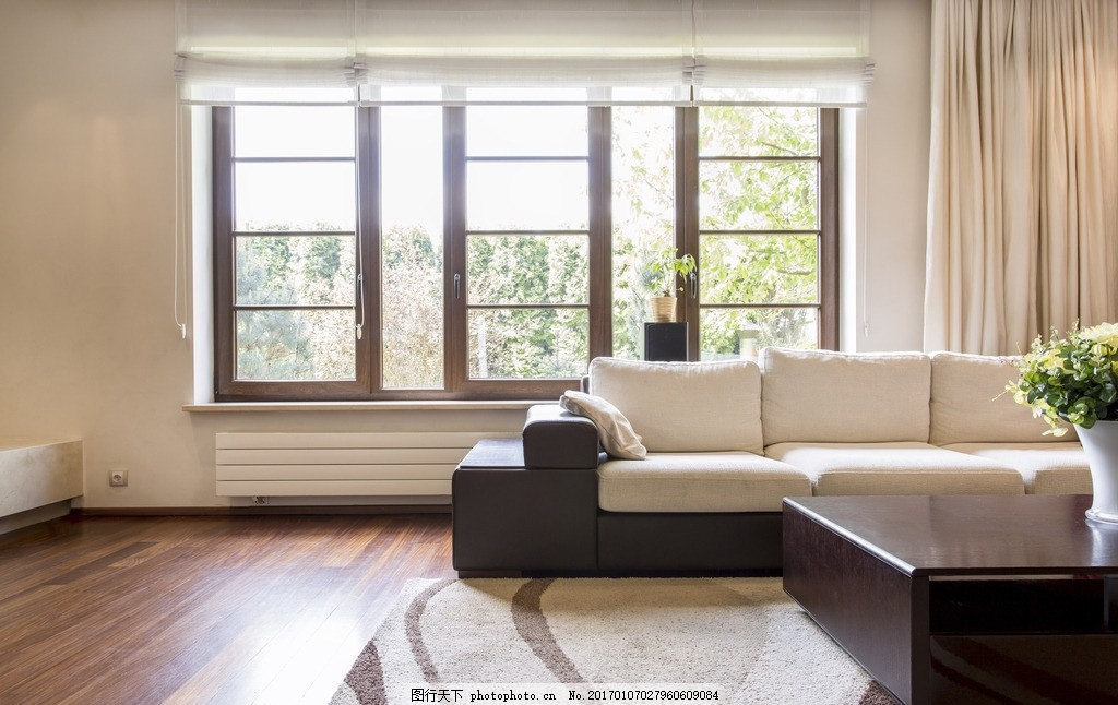 唯美 家居 家具 欧式 简洁 简约 浪漫      沙发 白色系 白墙 地毯