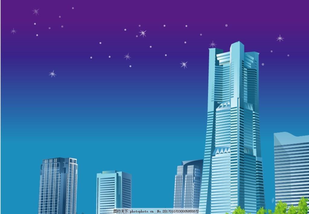 城市插画 素描 欧洲建筑 城市风景 手绘 时尚 潮流 矢量素材