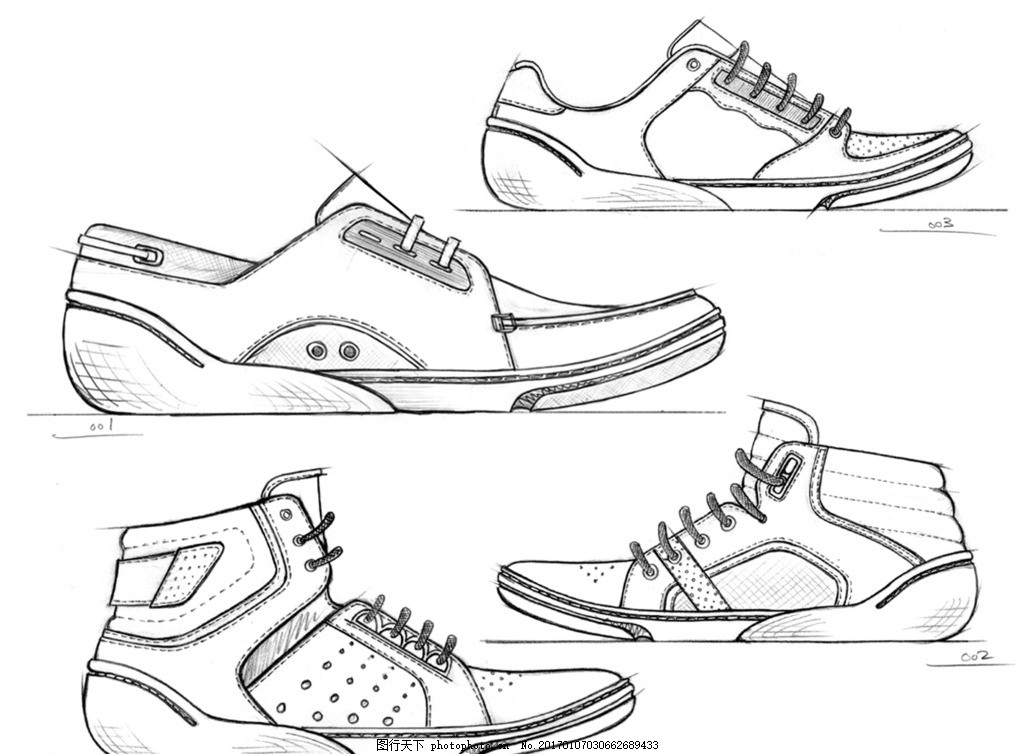 运动鞋设计图