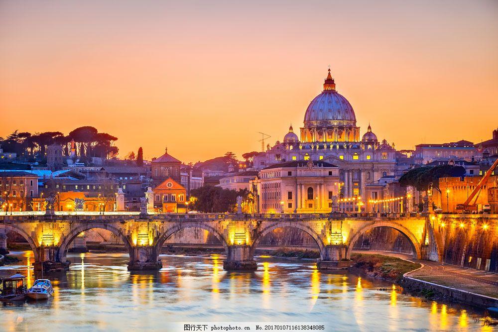 罗马古城夜景图片素材 罗马 景区 风景 城市 复古 古城 城市风光 环境