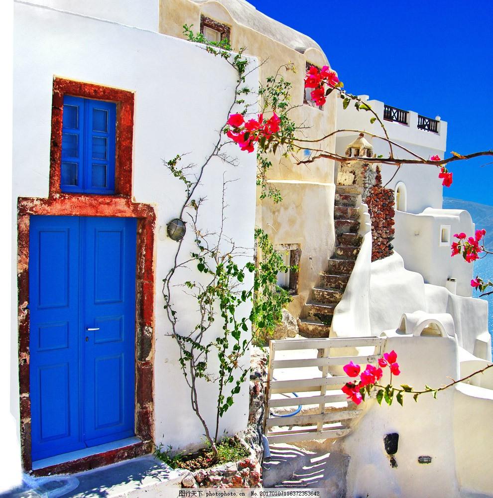 花朵 鲜花 植物 房屋 房子 建筑 楼房 旅游景区 国外建筑 其他风光 风