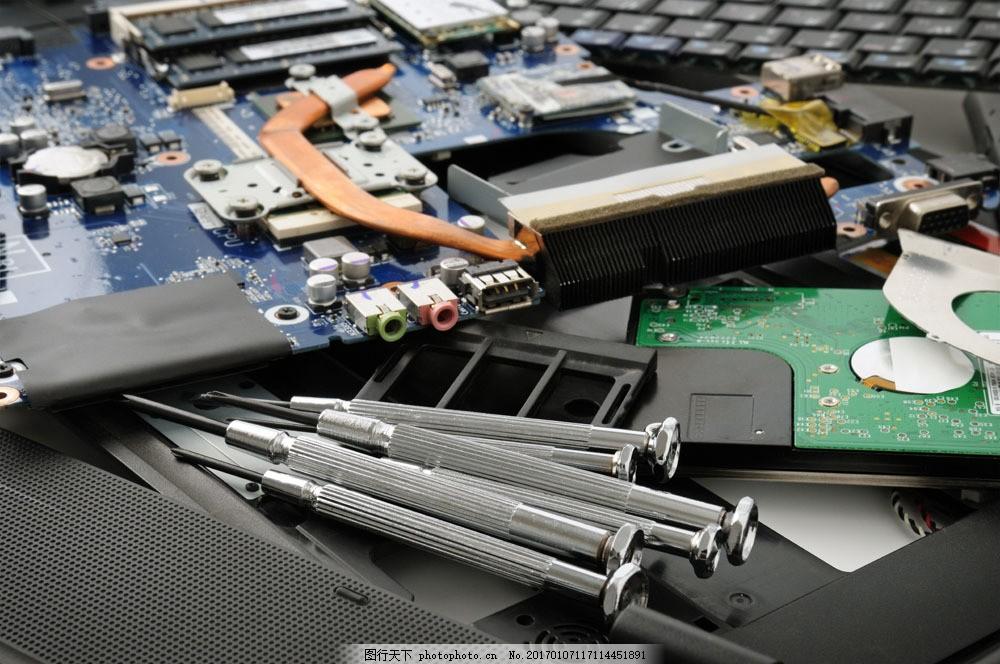 各种电脑零件 各种电脑零件图片素材 电线 维修 电路板 修理 其他类别