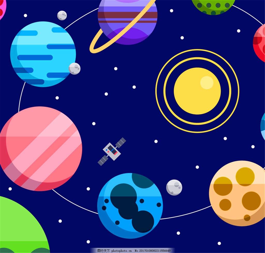 行星儿童手绘图