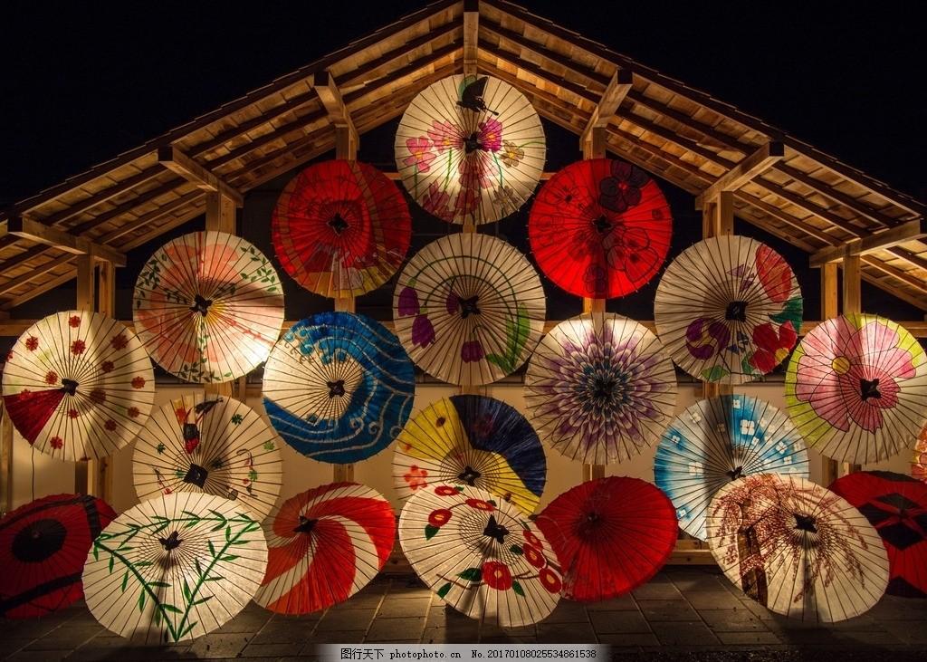 伞 油纸伞 手绘插画 彩色油纸伞 唐风 摄影 生活素材