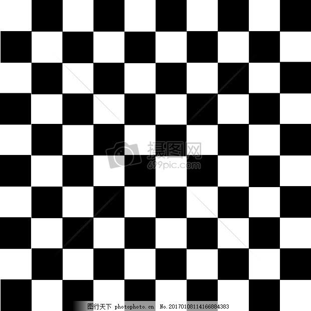 黑白格 网格马赛克 格子 经典 时尚 红色