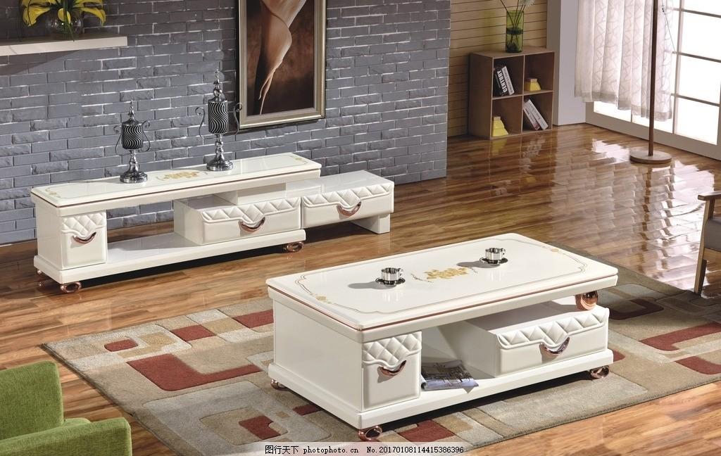 客厅电视柜 茶几 美式 欧式家具 高档电视柜 象牙白 摄影 生活百科 家