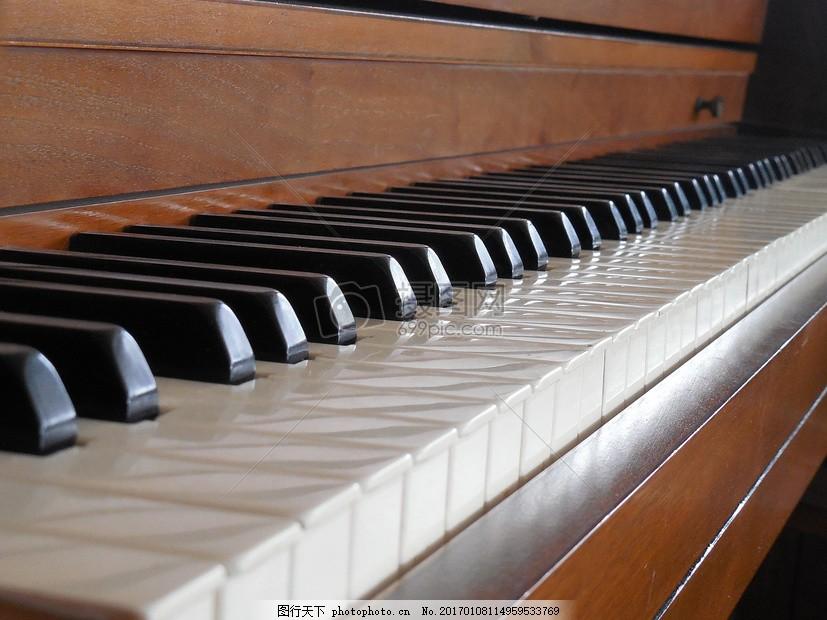 钢琴,键 仪器 键盘 白 关键 声音 古典 旋律 象牙-图