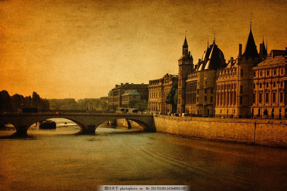 巴黎桥梁建筑风景图片素材 巴黎风景 桥 建筑风景 巴黎城市风景 法国