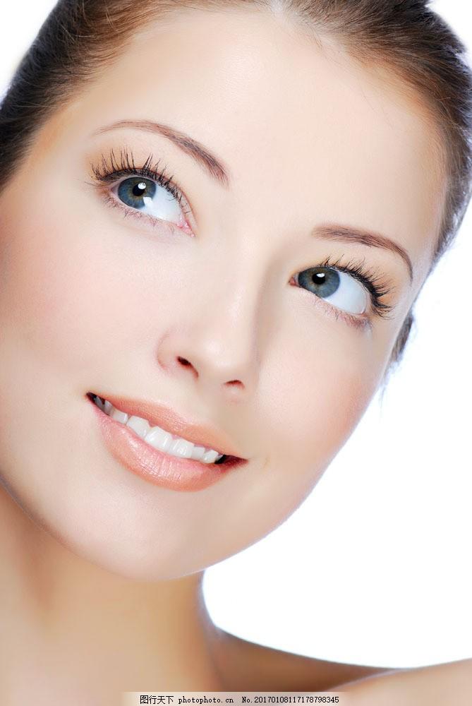 时尚美女 性感美女 模特 美容 护肤 肌肤白皙 皮肤美白 面部特写 美容