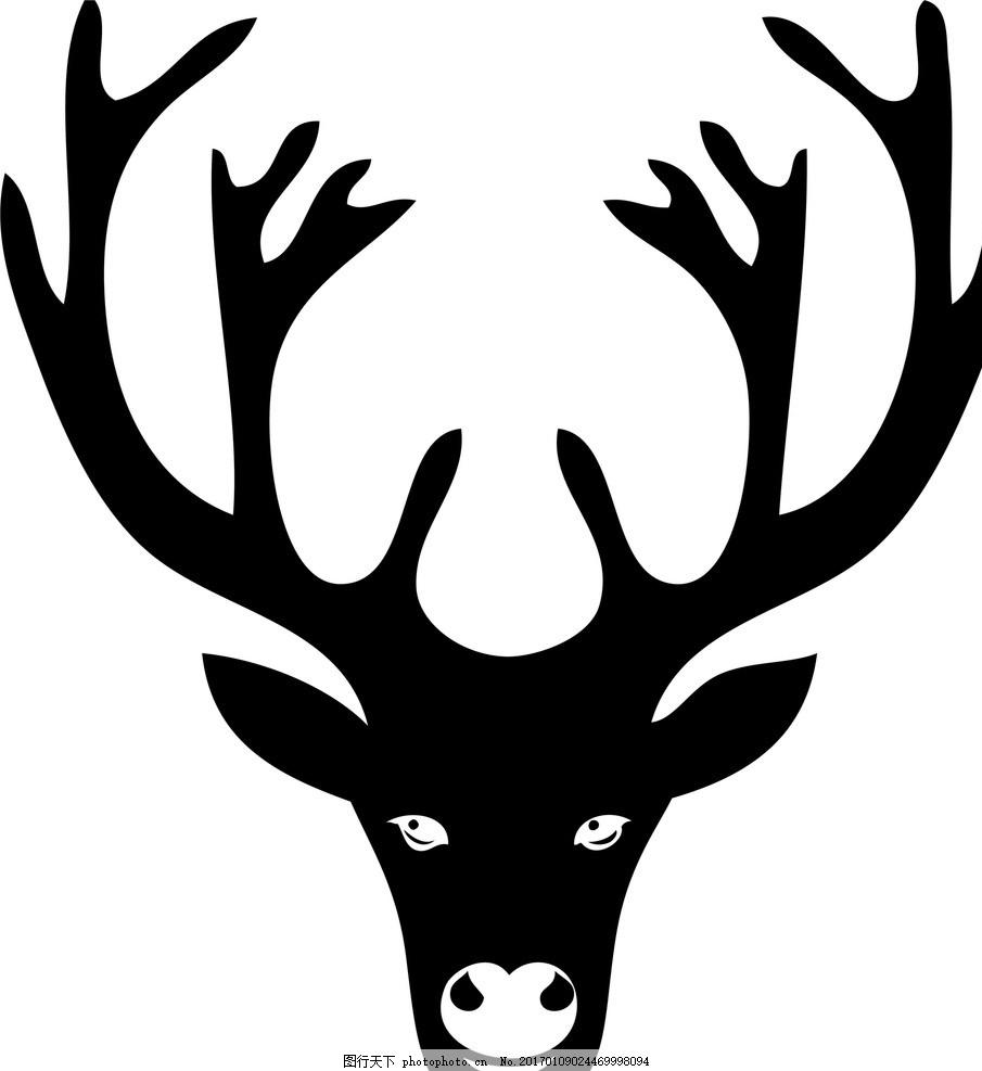梅花鹿 鹿头 鹿 脯乳动物 野生动物 生物世界 爬行生物 矢量 cdr 设计