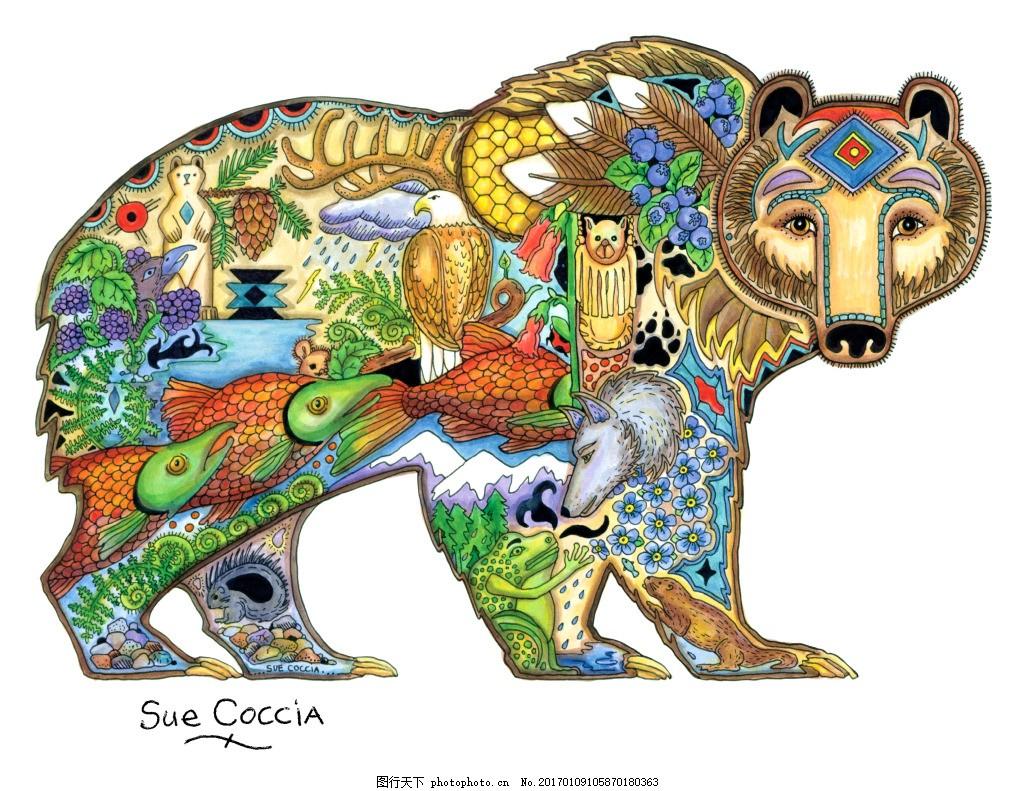 动物图案 服装印花图 数码印花图 民族印花图