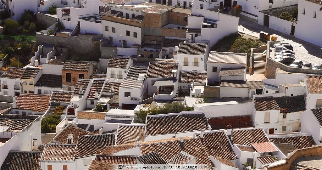 平房屋顶 村落 建筑群 矮房子 白色房子 风景 摄影 建筑园林