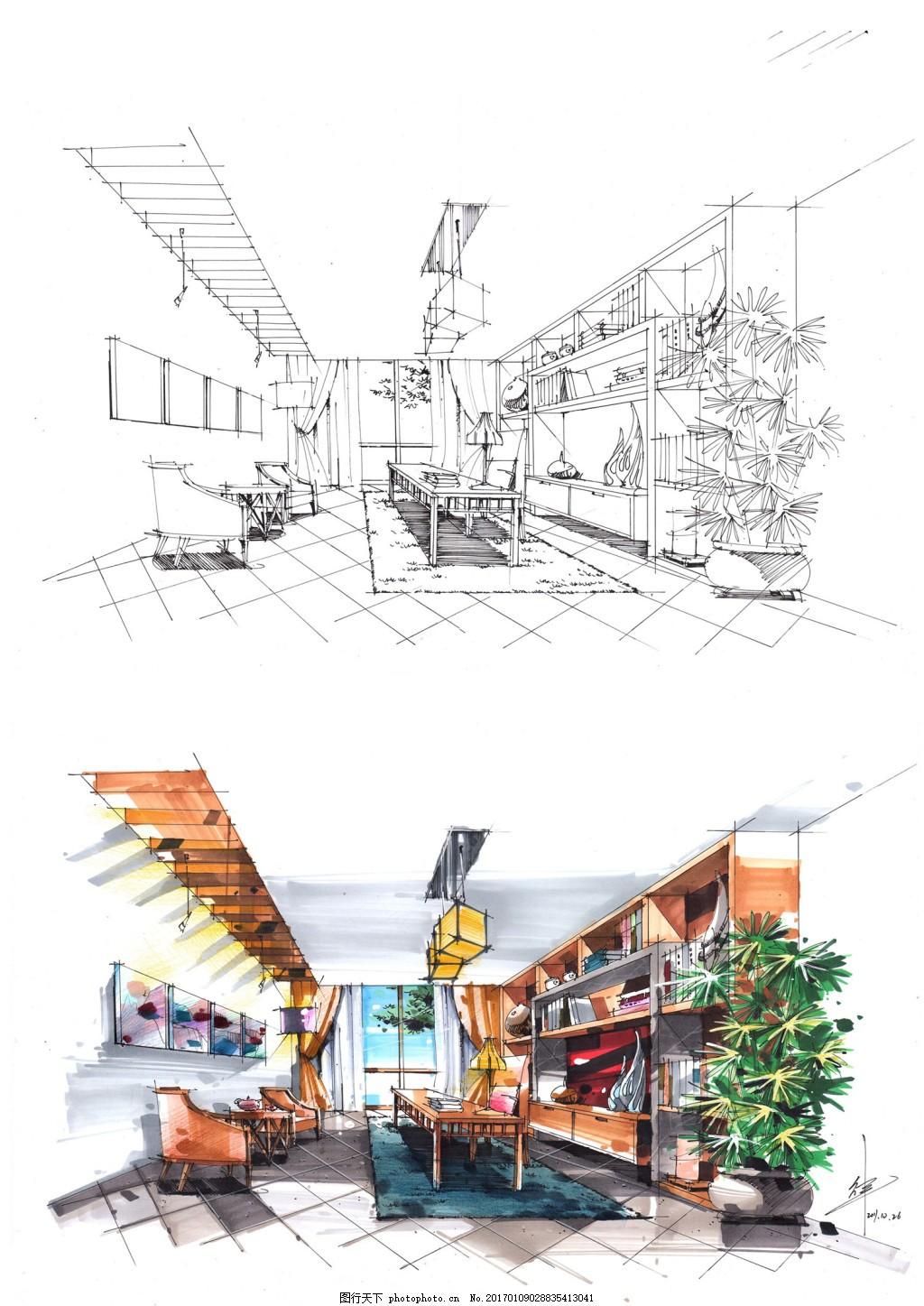 咖啡厅装修效果图 室内设计 工装效果图 工装平面图 施工图 工装效果